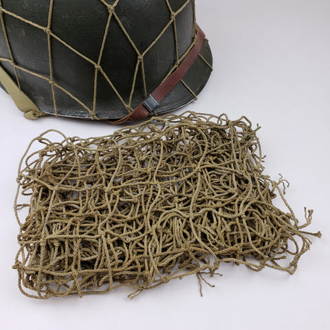 "M1 Helmet Cover - Vehicle Net - 2"" Squares - Original WWII"