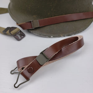 M1 Helmet Liner Chinstrap - Green Buckle (Flat Flip) - Reproduction