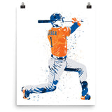 Carlos Correa Houston Astros Orange Poster - PixArtsy