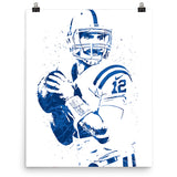 Andrew Luck Indianapolis Colts Football Poster - PixArtsy