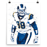 Aaron Donald Los Angeles Rams Football Poster - PixArtsy