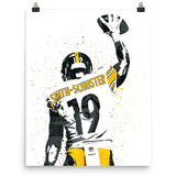 JuJu Smith-Schuster Pittsburgh Steelers Poster - PixArtsy