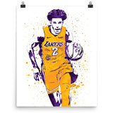 Lonzo Ball Los Angeles Lakers Home Poster - PixArtsy