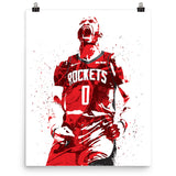 Russell Westbrook Houston Rockets Poster - PixArtsy