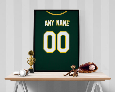 908568c7233 Oakland Athletics Jersey Poster - Print Personalized Select ANY Name & ANY  Number - PixArtsy