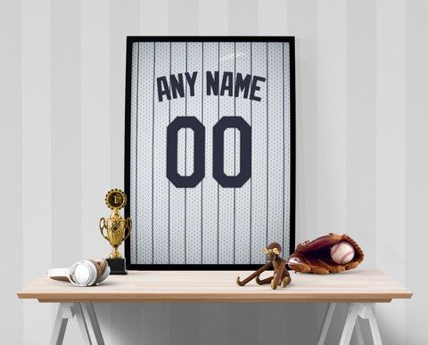 New York Yankees Jersey Poster - Print Personalized Select ANY Name & ANY Number - PixArtsy - 1