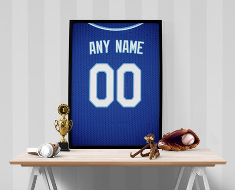 Kansas City Royals Jersey Poster - Print Personalized Select ANY Name & ANY Number - PixArtsy
