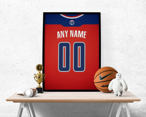 Washington Wizards Jersey Poster - Print Personalized Select ANY Name & ANY Number - PixArtsy
