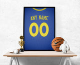 Golden State Warriors Jersey Poster - Print Personalized Select ANY Name & ANY Number - PixArtsy - 1