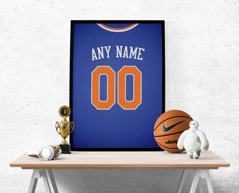 New York Knicks Jersey Poster - Print Personalized Select ANY Name & ANY Number - PixArtsy - 1