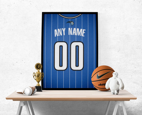 Orlando Magic Jersey Poster - Print Personalized Select ANY Name & ANY Number - PixArtsy - 1