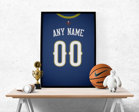 New Orleans Pelicans Jersey Poster - Print Personalized Select ANY Name & ANY Number - PixArtsy