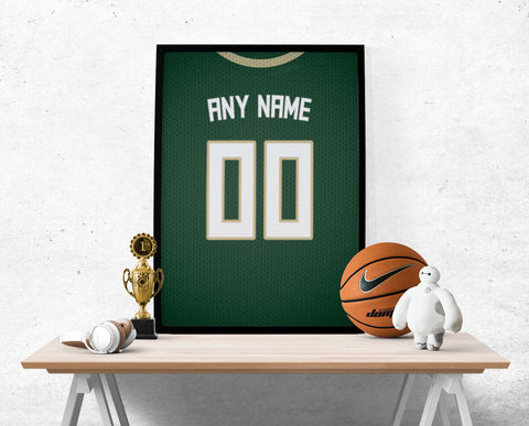 Milwaukee Bucks Jersey Poster - Print Personalized Select ANY Name & ANY Number - PixArtsy