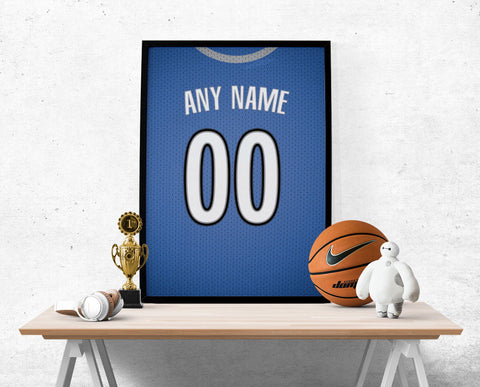 Minnesota Timberwolves Jersey Poster - Print Personalized Select ANY Name & ANY Number - PixArtsy