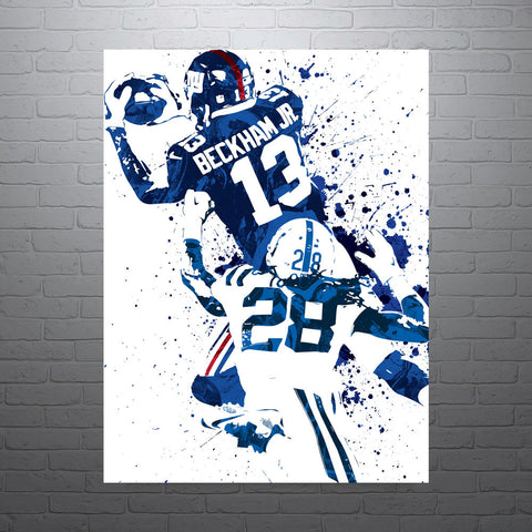 Odell Beckham Jr New York Giants Poster - PixArtsy - 1