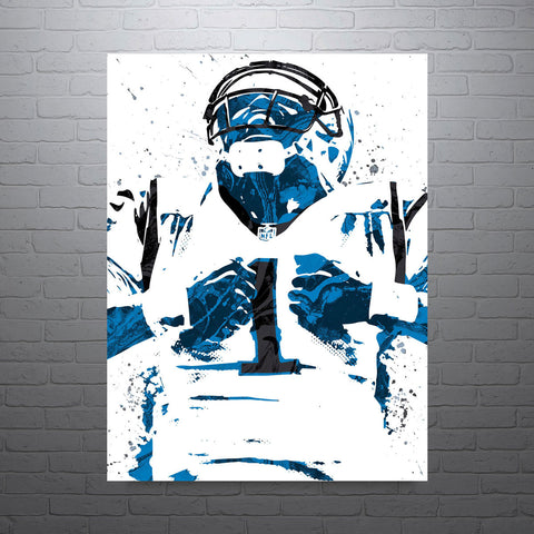 Cam Newton Carolina Panthers Poster - PixArtsy