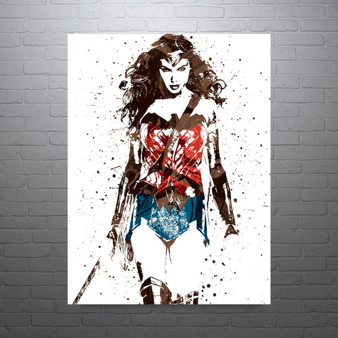Batman v Superman Wonder Woman Poster - PixArtsy - 1
