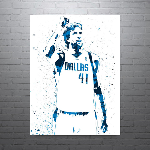 Dirk Nowitzki Dallas Mavericks Poster - PixArtsy
