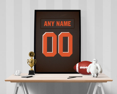 Cleveland Browns Jersey Poster - Print Personalized Select ANY Name & ANY Number - PixArtsy - 1