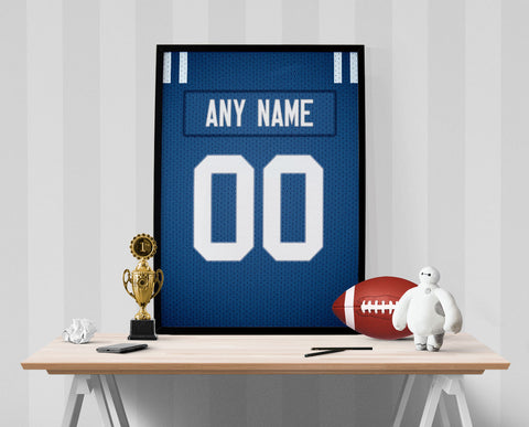Indianapolis Colts Jersey Poster - Print Personalized Select ANY Name & ANY Number - PixArtsy - 1