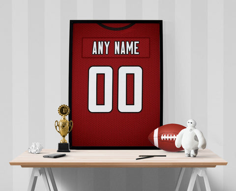 Atlanta Falcons Jersey Poster - Print Personalized Select ANY Name & ANY Number - PixArtsy - 1
