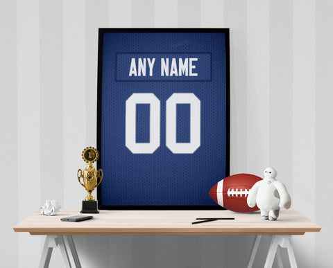 New York Giants Jersey Poster - Print Personalized Select ANY Name & ANY Number - PixArtsy