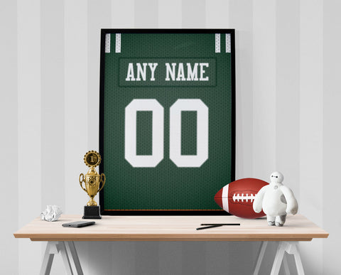 New York Jets Jersey Poster - Print Personalized Select ANY Name & ANY Number - PixArtsy