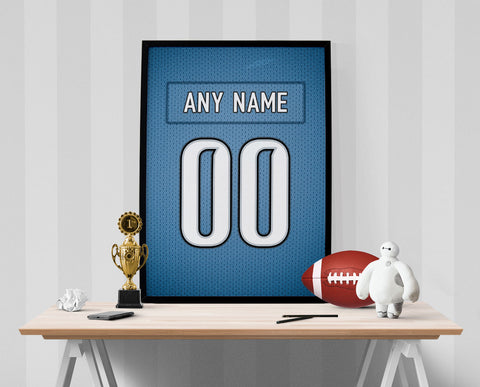 Detroit Lions Jersey Poster - Print Personalized Select ANY Name & ANY Number - PixArtsy - 1