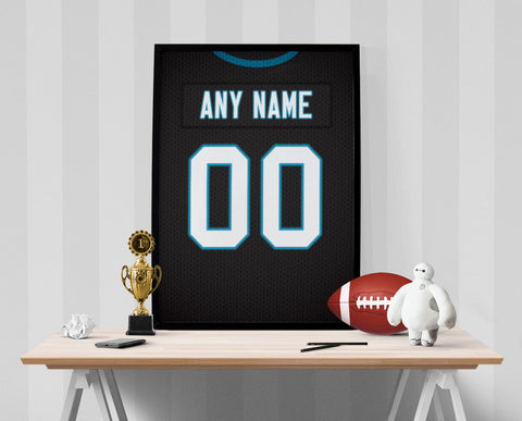 Carolina Panthers Jersey Poster - Print Personalized Select ANY Name & ANY Number - PixArtsy - 1