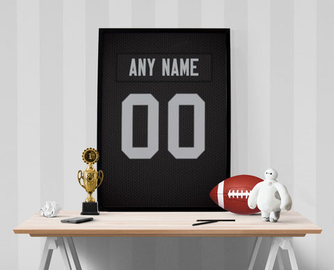 Oakland Raiders Jersey Poster - Print Personalized Select ANY Name & ANY Number - PixArtsy - 1