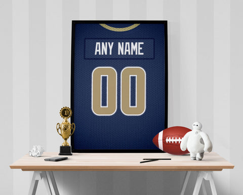 Los Angeles Rams Jersey Poster - Print Personalized Select ANY Name & ANY Number - PixArtsy - 1