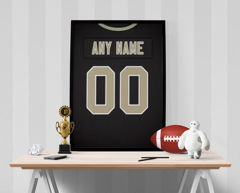 New Orleans Saints Jersey Poster - Print Personalized Select ANY Name & ANY Number - PixArtsy - 1