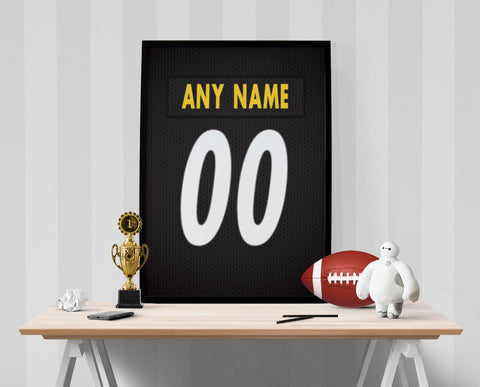 Pittsburgh Steelers Jersey Poster - Print Personalized Select ANY Name & ANY Number - PixArtsy - 1