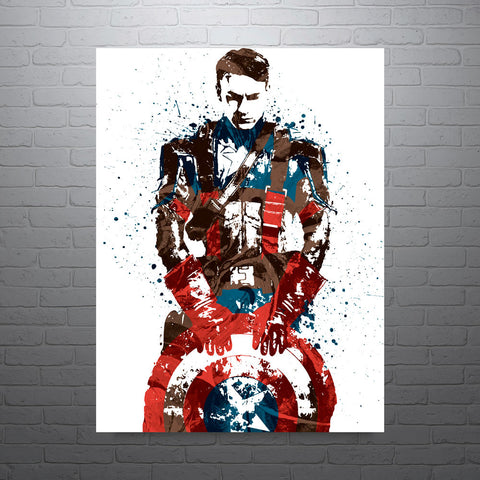Civil War Captain America Poster - PixArtsy - 1