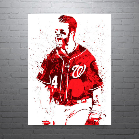 Bryce Harper Washington Nationals Poster - PixArtsy