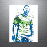 Clint Dempsey Seattle Sounders USA Soccer Poster - PixArtsy