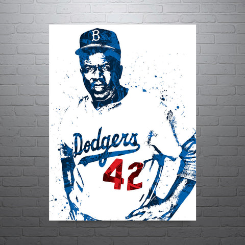 Jackie Robinson Brooklyn Los Angeles Dodgers Poster - PixArtsy
