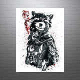 Guardians of the Galaxy Rocket Baby Groot Poster - PixArtsy