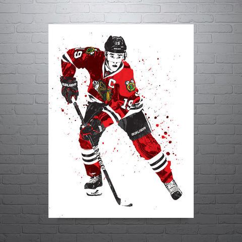 Jonathan Toews Chicago Blackhawks Poster - PixArtsy