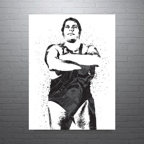 custom andre the giant wwe poster pixartsy