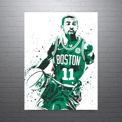 Kyrie Irving Boston Celtics Poster - PixArtsy
