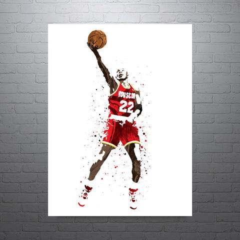 Clyde Drexler Houston Rockets Poster - PixArtsy