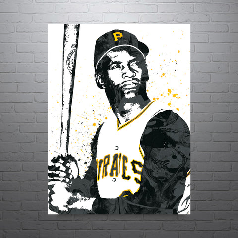 Roberto Clemente Pittsburgh Pirates Poster - PixArtsy