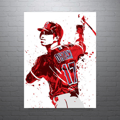 Shohei Ohtani Los Angeles Angels of Anaheim Poster - PixArtsy