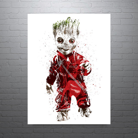 Guardians of the Galaxy Baby Groot Poster - PixArtsy