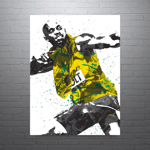 Usain Bolt Jamaica Track and Field Poster - PixArtsy