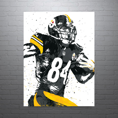 Antonio Brown Pittsburgh Steelers Poster - PixArtsy