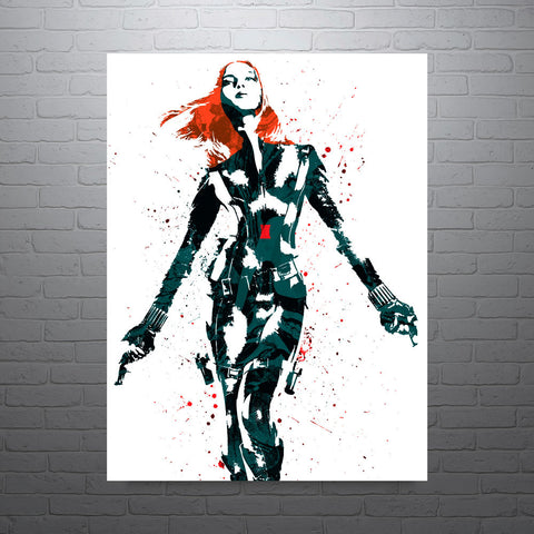 Civil War Black Widow Poster - PixArtsy