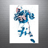 Earl Campbell Houston Oilers Poster - PixArtsy
