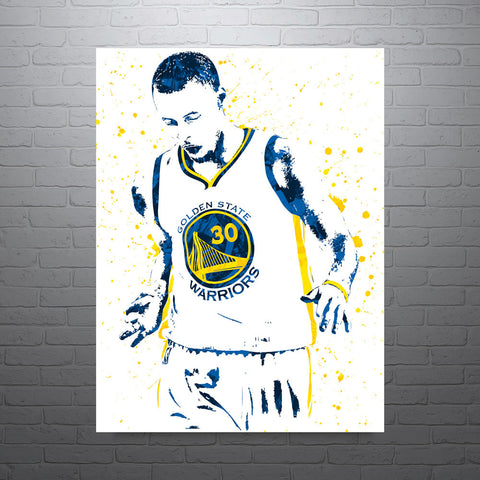 Stephen Curry Golden State Warriors Basketball Poster - PixArtsy - 1